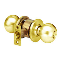 MK34-BD-05A Arrow Lock MK Series Cylindrical Locksets Double Cylinder for Exterior with BD Knob in Antique Brass Finish