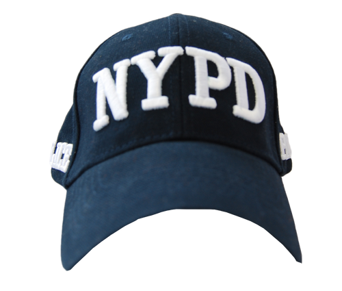 Adult NYPD Navy Hat with White Embroidered Design