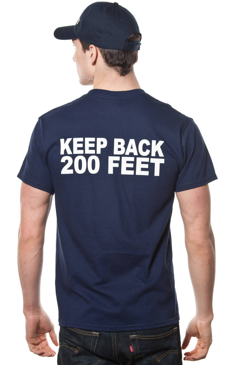 FDNY Long Sleeve Officially Licensed Keep Back 200 Feet T-Shirt Red