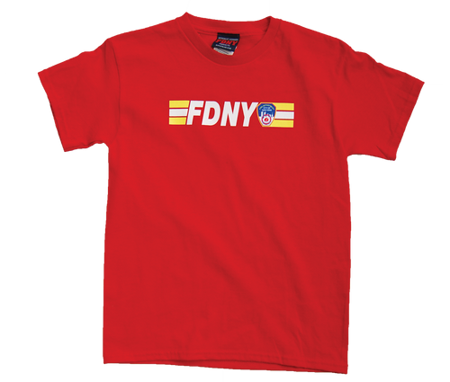 FDNY Kids Red Tee with Front and KEEP BACK Print