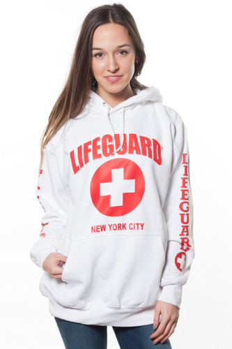 Unisex LIFEGUARD Licensed WhitePullover Hoodie