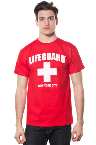 Unisex LIFEGUARD Licensed Red T-Shirt