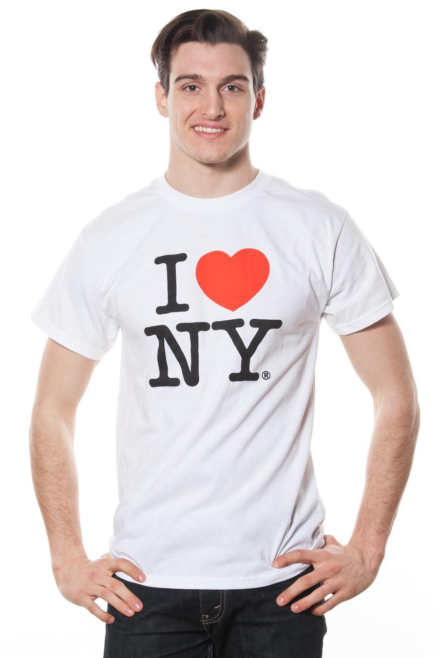 3d9a5003 Mens I LOVE NY Short Sleeve T-Shirt White - New York Apparel Company
