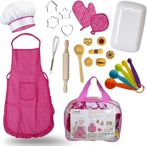 IntelliFun Kids Girls Baking Dress Up Costume 19 pc Set