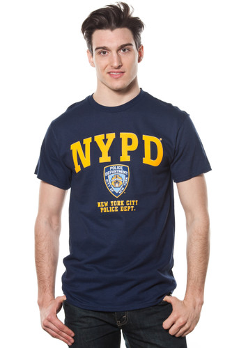 Adult NYPD Yellow Printed Tee