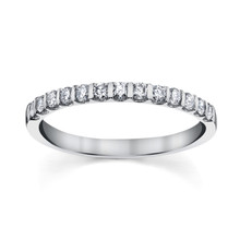 14K White Gold Diamond Band 0.33 DTW