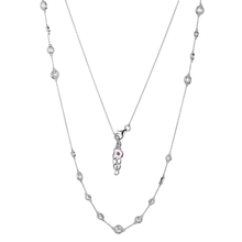 "Elle Sterling Silver CZ 36"" Necklace"