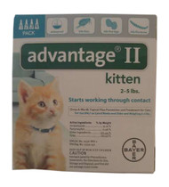 Bayer Advantage II Turquoise 4-Month Flea Treatment for Kittens 2-5 lbs