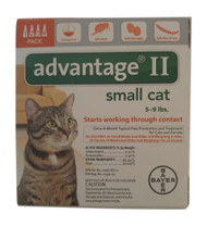 Bayer Advantage II Orange 4-Month Flea Control for Cats, 5 to 9-Pound