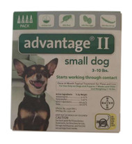 Bayer Advantage II Green 4-Month Flea Control for Dogs 0-10 lbs.