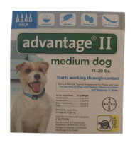 Bayer Advantage II Teal 4-Month Flea Control for Dogs 11-20 lbs.