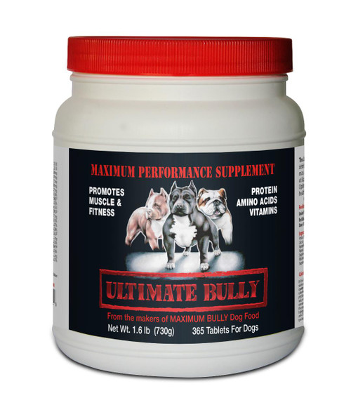 Maximum Bully, Ultimate Bully Performance Supplement 365 Tablets