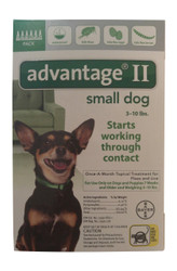 Bayer Advantage II Green 6-Month Flea Control for Dogs 0-10 lbs.