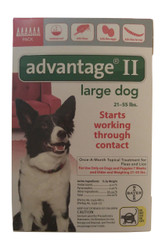 Bayer Advantage II Red 6-Month Flea Control for Dogs 21-55 lbs.