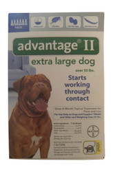 Bayer Advantage II 6-Month Dogs Over 55 Lbs (Blue)