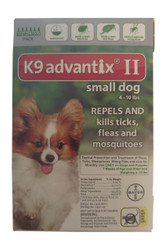 Bayer K9 Advantix II 6-Month Dogs 0-10 Lbs (Green)