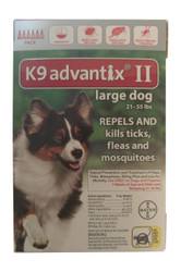 Bayer K9 Advantix II 6-Month Dogs 21-55 Lbs (Red)