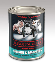 MAXIMUM BULLY CHICKEN & MACKEREL 13.2 OZ 12/CS