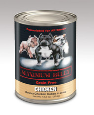 MAXIMUM BULLY SAVORY CHICKEN IN GRAVY 13.2 OZ 12/CS