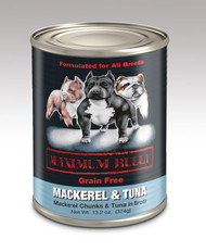 MAXIMUM BULLY MACKEREL & TUNA IN BROTH 13.2 OZ 12/CS