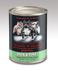 MAXIMUM BULLY DUCK & TUNA IN BROTH 13.2 OZ 12/CS