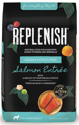 Replenish Activ8 Salmon Grain Free, Prebiotics and Probiotics, 24-Pound