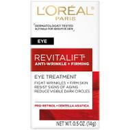 L'Oreal Paris Revitalift Anti-Wrinkle + Firming Eye Cream Treatment Fragrance Free 0.5 oz