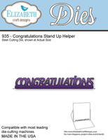 Elizabeth Craft Design Die - Congratulations Stand Up Helper 935