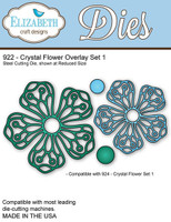 Elizabeth Craft Design Die - Crystal Flower Overlay Set #1 922