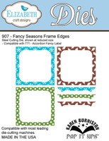 Karen Burniston Retired Pop It Up Elizabeth Craft - Fancy Season Frame Edges 907