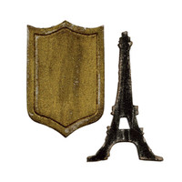 Sizzix Movers & Shapers Magnetic Die Tim Holtz - Mini Eiffel Tower & Shield 659443