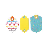 Sizzix Bigz L Movers & Shapers WWC Die - Tags / Fruit Holes 659539