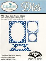 Karen Burniston Retired Pop It Ups by Elizabeth Crafts - Oval Dots Frame Edges 776