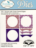 Karen Burniston Retired Pop It Ups by Elizabeth Crafts - Square w/ Circle Frame Edges 770