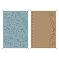 Sizzix Texture Impressions Embossing Folders - Flowers & Frames Set 658968