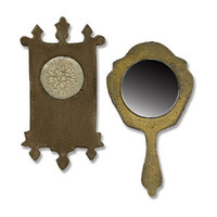 Sizzix Movers & Shapers Magnetic Die Tim Holtz - Mini Mirror & Wall Clock 658724