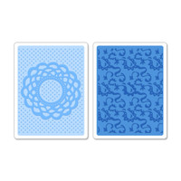 Sizzix Textured Impressions Embossing Folders - Doily & Lace Set 658516