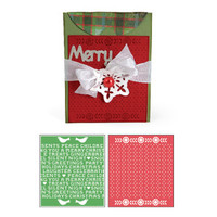 Sizzix Bigz XL Die w/ Bonus Embossing Folder - A2 Card w/ Flap and Holiday Cross Stitch & Pattern Set 658187
