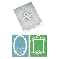 Sizzix Bigz XL Die w/ Bonus Embossing Folder - Card Ornate #3 and Frames Set 658188