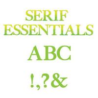 Sizzix Serif Essential Bigz Alphabet Set 655128