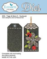 Elizabeth Craft Design Die  - Tags & More 5 - Sunburst 958