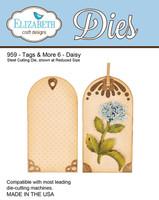 Elizabeth Craft Design Die - Tags & More 6 - Daisy 959