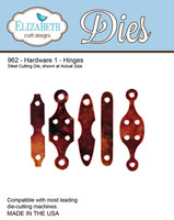 Elizabeth Craft Design Die  - Hardware 1 Hinges - 962