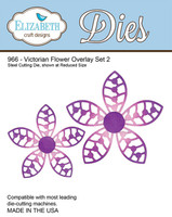 Elizabeth Craft Design Die  - Victorian Flower Overlay 2 - 966