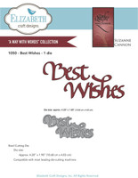 Elizabeth Craft Design Die - Quietfire Best Wishes 1050
