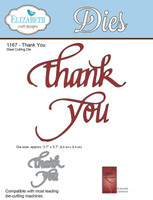 Elizabeth Craft Design Die - Thank You 1167