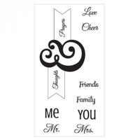 Sizzix Interchangeable Clear Stamps - Me & You 660642