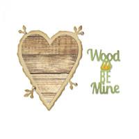 Sizzix Thinlits Dies Jen Long - Wood U Be Mine 661135