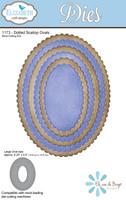 Elizabeth Craft Designs - Dotted Scallop Ovals 1173