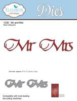 Elizabeth Craft Designs - Mr & Mrs 1236